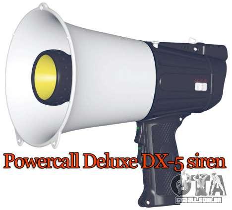 Sirene Powercall Deluxe DX-5 para GTA 4