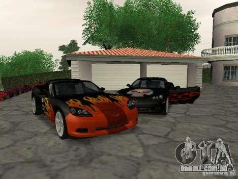 Chevrolet Corvette (C6) para GTA San Andreas vista inferior