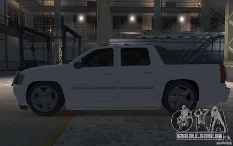 Chevrolet Avalanche v1.0 para GTA 4 esquerda vista