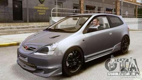 Honda Civic Type-R (EP3) para GTA 4 vista de volta