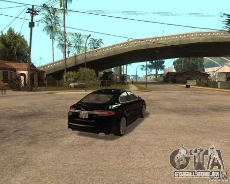 Jaguar XFR 2009 para GTA San Andreas vista direita
