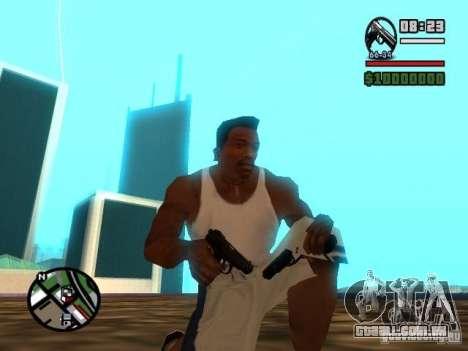 Gangster Weapon Pack para GTA San Andreas por diante tela