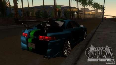 Toyota MR2 Drift para GTA San Andreas vista direita