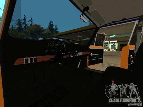 VAZ 2101 restaurado para GTA San Andreas traseira esquerda vista