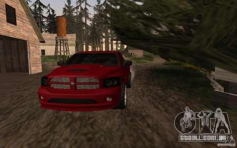 Dodge Ram SRT-10 para GTA San Andreas traseira esquerda vista