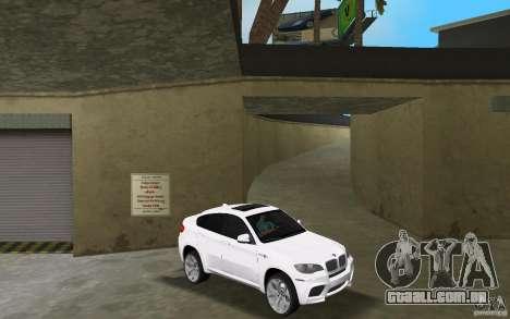 BMW X6M 2010 para GTA Vice City vista traseira