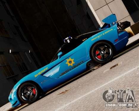 Dodge Viper SRT-10 ACR 2009 Police ELS para GTA 4 esquerda vista