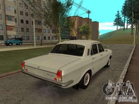GAZ 24 para GTA San Andreas traseira esquerda vista