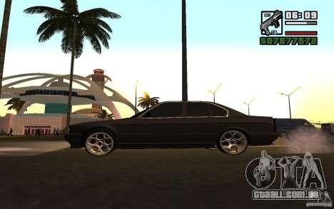 BMW 535i para GTA San Andreas esquerda vista
