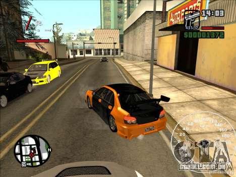 Subaru Impreza WRX Sti 2006 Elemental Attack para GTA San Andreas traseira esquerda vista