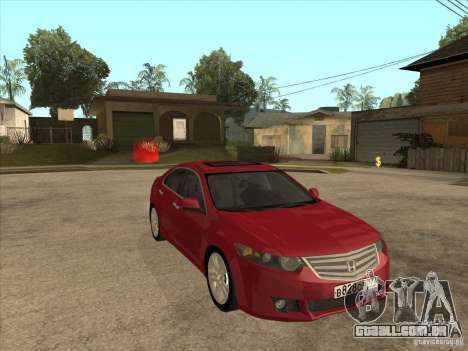 Honda Accord 2010 para GTA San Andreas vista traseira