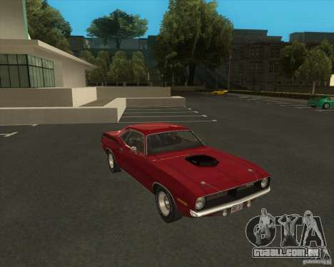 Plymouth Hemi Cuda 440 1970 do NFS PS para GTA San Andreas vista direita