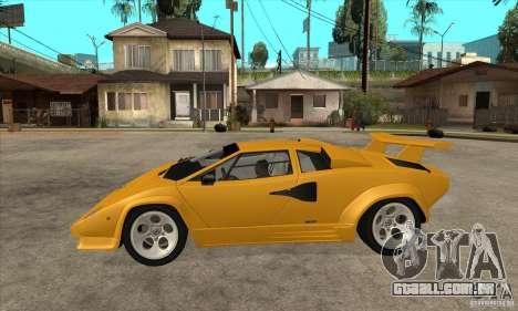 Lamborghini Countach para GTA San Andreas esquerda vista