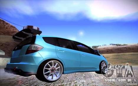 Honda Fit para GTA San Andreas esquerda vista
