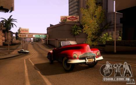 Buick Y-Job 1938 para vista lateral GTA San Andreas