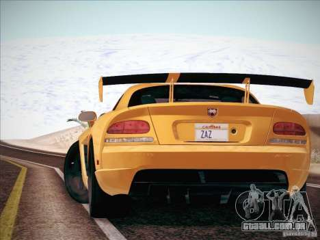 Dodge Viper SRT-10 ACR para GTA San Andreas vista traseira