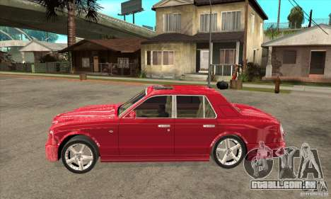 Bentley Arnage T para GTA San Andreas traseira esquerda vista
