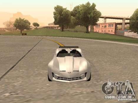 Chevrolet Corvette C7 Spyder para GTA San Andreas vista traseira