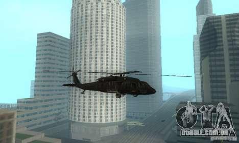 UH-60M Black Hawk para GTA San Andreas esquerda vista