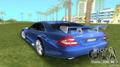 Mercedes-Benz CLK500 C209 para GTA Vice City deixou vista