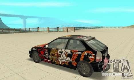Honda-Superpromotion para GTA San Andreas vista traseira