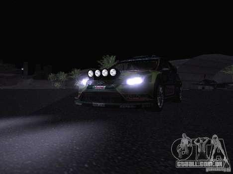 Ford Focus RS WRC 2010 para as rodas de GTA San Andreas