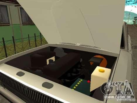 GAZ 24 para GTA San Andreas vista traseira