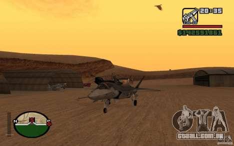 F-35 Eagle para GTA San Andreas traseira esquerda vista