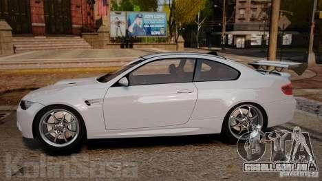BMW E92 M3 Threep Edition para GTA 4 esquerda vista