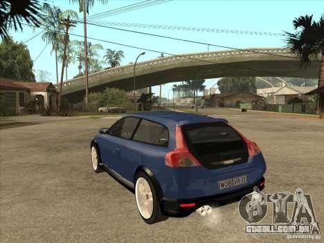 VOLVO C30 Sport 2009 para GTA San Andreas traseira esquerda vista