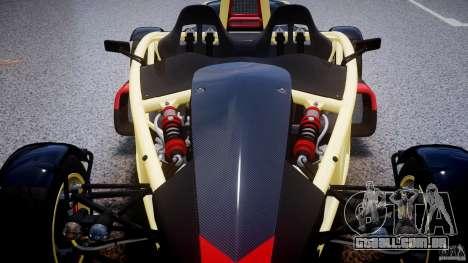 Ariel Atom 3 V8 2012 para GTA 4 vista inferior
