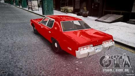 Dodge Monaco 1974 stok rims para GTA 4 traseira esquerda vista