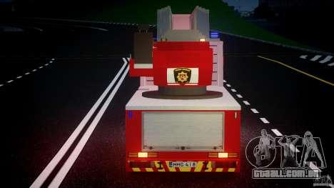 Scania R580 Fire ladder PK106 [ELS] para GTA 4 vista inferior