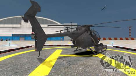 New AH-6 Little Bird para GTA 4 traseira esquerda vista