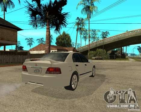 Mitsubishi Galant VR6 para GTA San Andreas traseira esquerda vista