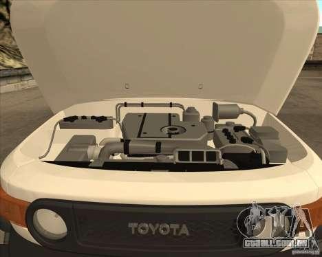 Toyota FJ Cruiser para GTA San Andreas vista superior