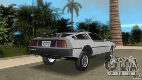 DeLorean para GTA Vice City vista traseira esquerda