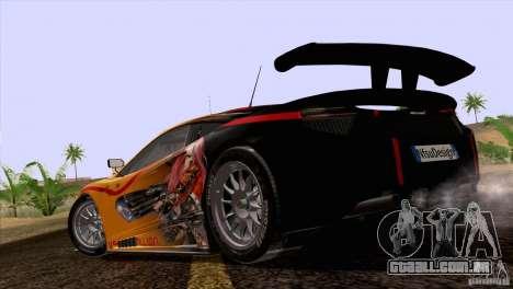 Pintura funciona McLaren MP4-12 c Speedhunters para GTA San Andreas vista traseira