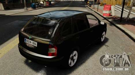 Skoda Fabia Combi Unmarked ELS para GTA 4 vista de volta