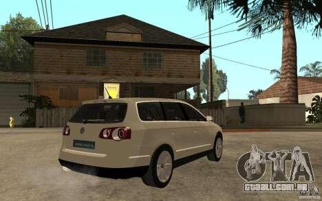 Volkswagen Passat Variant 2010 para GTA San Andreas vista direita