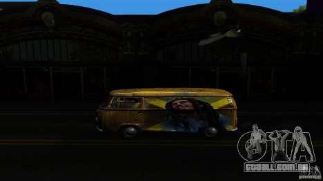 Comb do Bob and Rastaman para GTA San Andreas traseira esquerda vista