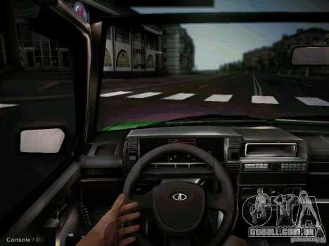 Táxi de curto-kryloe 2109 Vaz para GTA San Andreas vista interior