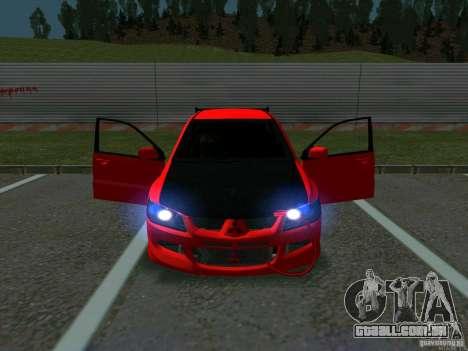 Mitsubishi Lancer Drift para GTA San Andreas vista interior