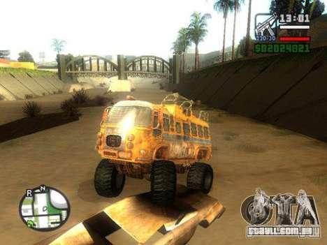 Bullet Storm Bus para GTA San Andreas traseira esquerda vista
