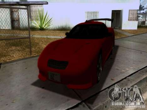 Chevrolet Corvette C5 para GTA San Andreas interior