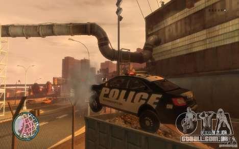 Ford Taurus Police para GTA 4 vista de volta