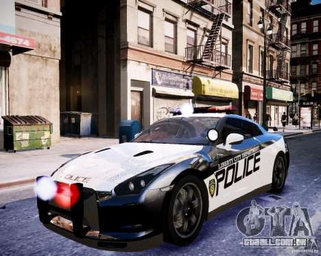 Nissan Spec GT-R Enforcer para GTA 4 vista interior