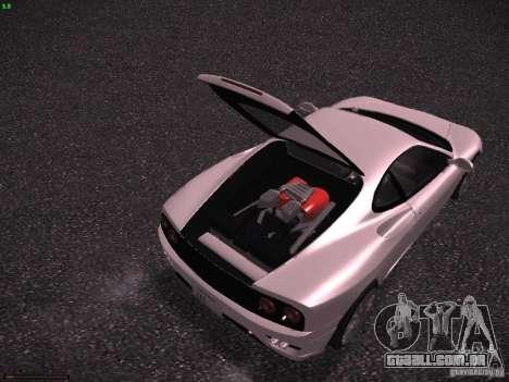 Ferrari 360 Modena para GTA San Andreas vista inferior