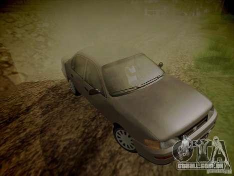 Toyota Corolla para vista lateral GTA San Andreas