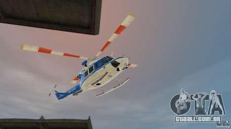 Bell412/NYPD Air Sea Rescue Helicopter para GTA 4 esquerda vista